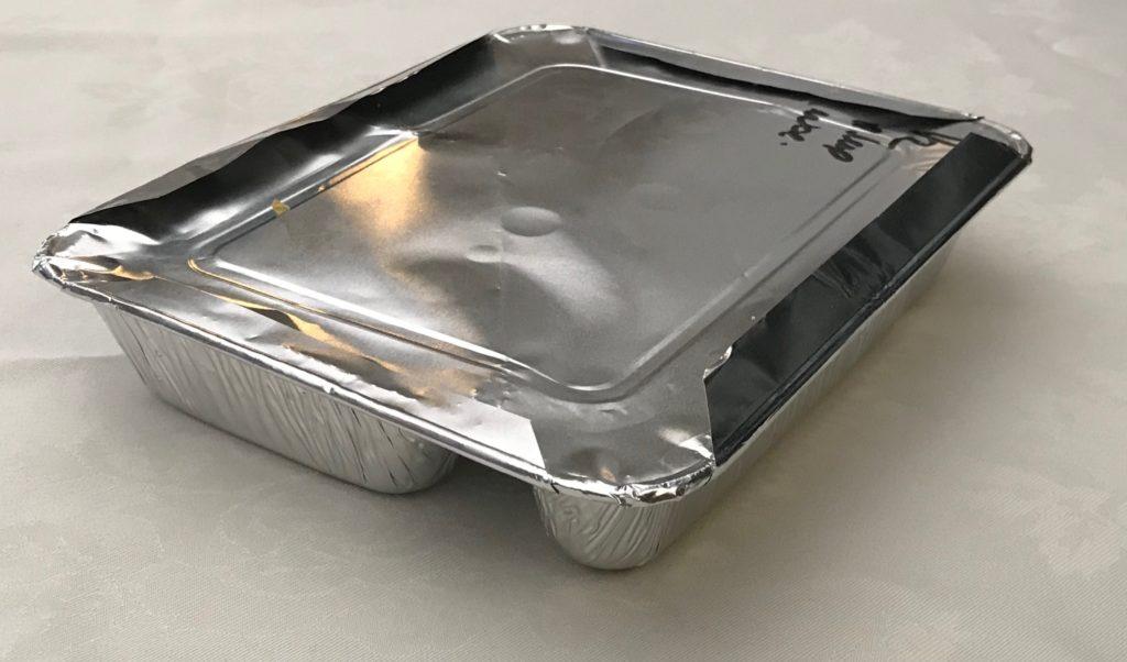 egwerp verpakking van warme maaltijden
